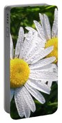 Dual Daisies Portable Battery Charger