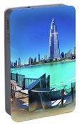 Dubai Burj Khalifa Panorama Portable Battery Charger