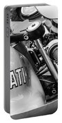 Ducati Desmo Motorcycle -2127bw Portable Battery Charger