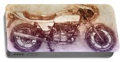 Ducati Supersport 2 - Sports Bike - 1975 - Motorcycle Poster - Automotive Art Portable Battery Charger