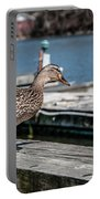 Duck About To Jump. Portable Battery Charger