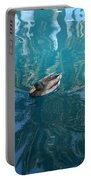 Duck Swimming In The Blue Lagoon Portable Battery Charger