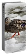 Duck Walking On Thin Ice Portable Battery Charger