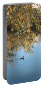 Ducks On Peaceful Autumn Pond Portable Battery Charger