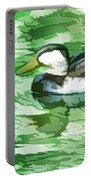 Ducks Swimming In A Pond Portable Battery Charger