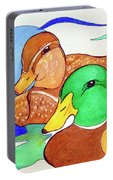 Ducks2017 Portable Battery Charger by Loretta Nash