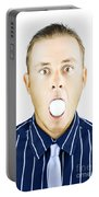 Dumbfounded Man Silenced By A Golf Ball Portable Battery Charger