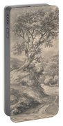 Dune Landscape With Oak Tree Portable Battery Charger