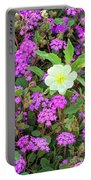 Dune Primrose Oenothera Deltoides And Purple Sand Verbena Portable Battery Charger