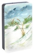 Dunes 3 Seascape Beach Painting Print Portable Battery Charger