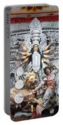 Durga Idol At Puja Pandal Durga Puja Festival Portable Battery Charger
