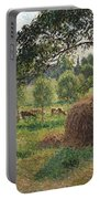 Dusk At Eragny Portable Battery Charger by Camille Pissarro