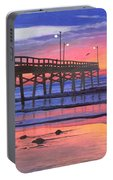 Dusk At The Pier Portable Battery Charger
