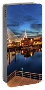 Dusk At The Zakim Bridge Portable Battery Charger