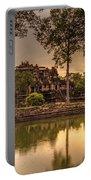 Dusk Light Preah Khan Temple Reflection Portable Battery Charger