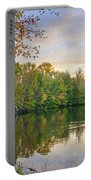 Dusk On Autumn Lake  Portable Battery Charger
