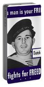 Dutch Sailor This Man Is Your Friend Portable Battery Charger