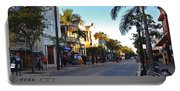 Duval Street In Key West Portable Battery Charger