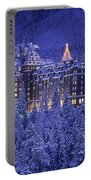 D.wiggett Banff Springs Hotel In Winter Portable Battery Charger