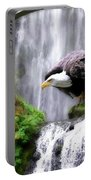 Eagle By The Waterfall Portable Battery Charger