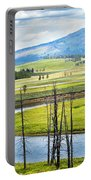 Eagles View, Hayden Valley, Yellowstone Portable Battery Charger