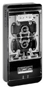 Early 1900s Type Cs Watthour Meter In Black And White Portable Battery Charger