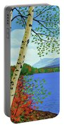 Early Autumn Birches Portable Battery Charger