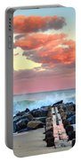 Early Evening At The Beach Portable Battery Charger