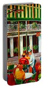 Early Morning At The Cafe Du Monde Portable Battery Charger by Diane Millsap
