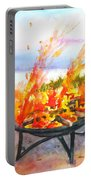 Early Morning Beach Bonfire Portable Battery Charger