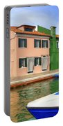 Early Morning In Isola Di Burano Portable Battery Charger