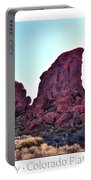 Early Morning Mystery Valley Colorado Plateau Arizona 05 Text Portable Battery Charger