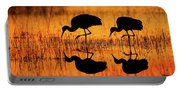 Early Morning Sandhill Cranes Portable Battery Charger
