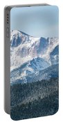 Early Morning Snow On Pikes Peak Portable Battery Charger