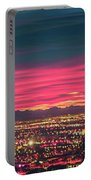 Early Morning Sunrise Over Valley Of Fire And Las Vegas Portable Battery Charger
