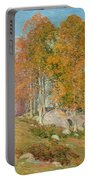 Early October Portable Battery Charger by Willard Leroy Metcalf