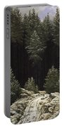 Early Snow Portable Battery Charger by Caspar David Friedrich