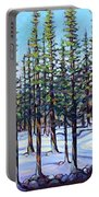 Early Spring, Trees In Training Portable Battery Charger