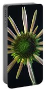 Early Stage Of Cone Flower Bloom Portable Battery Charger