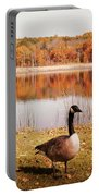 Earth Tone Autumn Pond Goose Portable Battery Charger