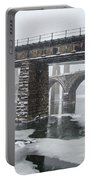 East Falls - The Frozen Schuylkill River Portable Battery Charger