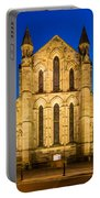 East Side Of Hexham Abbey At Night Portable Battery Charger