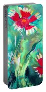 East Texas Wild Flowers Portable Battery Charger