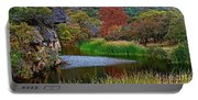 East Trail Pond At Lost Maples Portable Battery Charger