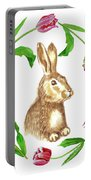Easter Background Portable Battery Charger