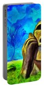 Easter Island - Van Gogh Style - Pa Portable Battery Charger