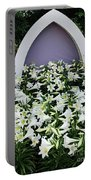 Easter Lillies Portable Battery Charger