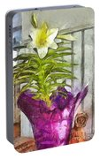 Easter Lily And Doll Portable Battery Charger