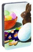 Easter Morning Still Life Portable Battery Charger