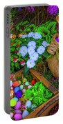 Easter Rabbit In Garden Portable Battery Charger